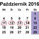 Kalendarz obchodów dnia Edukacji Narodowej 2016 r.