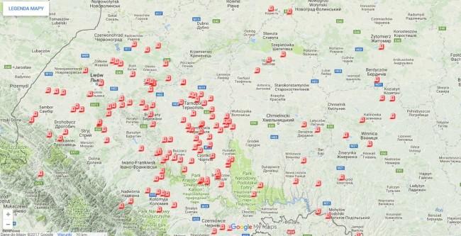 mapa cmentarzy porzadkowa