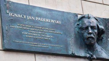 Odsłonięcie tablicy Ignacy Jan Paderewski we Wrocławiu