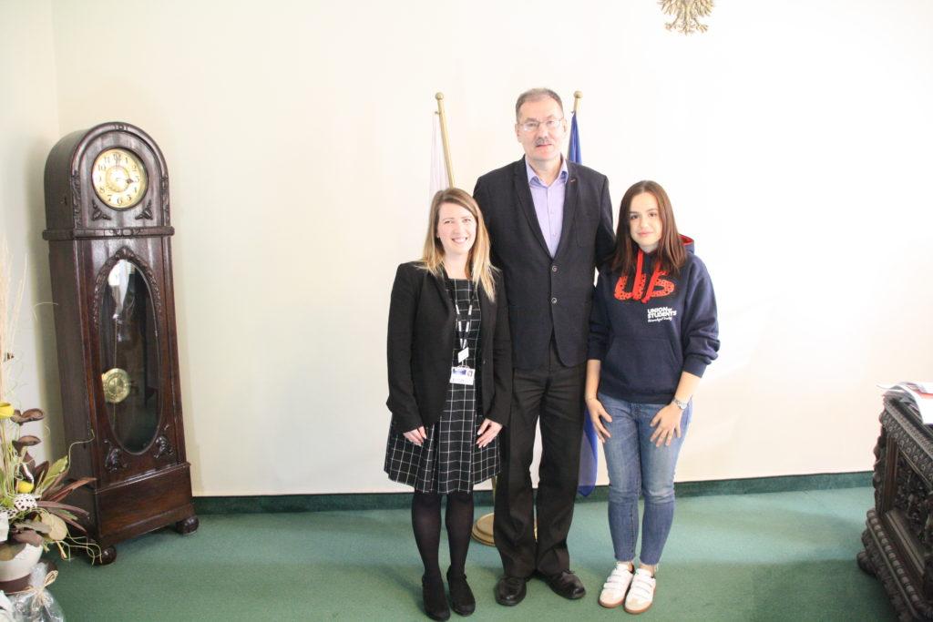 Spotkanie Dolnośląskiego Kuratora Oświaty z przedstawicielkami Uniwersytetu w Derby (Wielka Brytania).