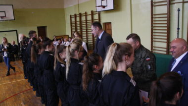 Uroczystość w Zespole Szkół im. Jerzego Wyżykowskiego