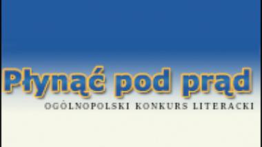 logo konkursu literackiego _Płynąć pod prąd_