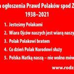 Prawdy Polaków 2021